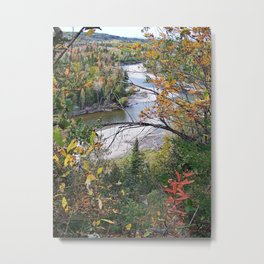 Winding River in Autumn Metal Print