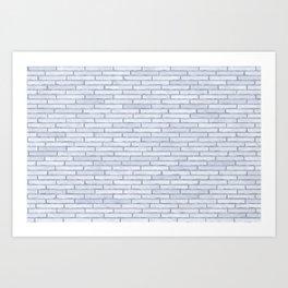 White Brick Wall Art Print