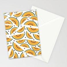 Yellow watermelon pattern art Stationery Cards