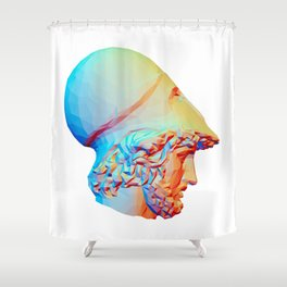 Bust of the so-called Phocion Shower Curtain