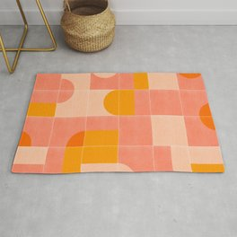 Retro Tiles 03 #society6 #pattern Rug