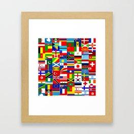 Flag Montage Framed Art Print