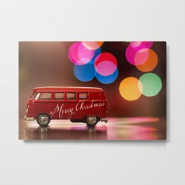 Christmas Bus Metal Print