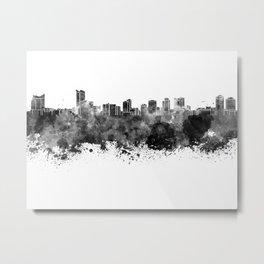 Windsor skyline in black watercolor Metal Print