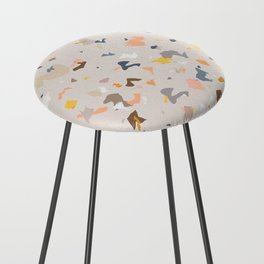 Lively Colorful Terrazzo Pattern Counter Stool