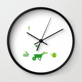 Nothing Compares to Simple Pleasure of Gardening Wall Clock