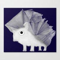 hedgehog Canvas Prints featuring Hedgehog by Brontosaurus
