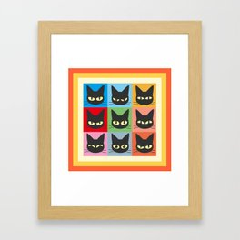 Nine emotions Framed Art Print
