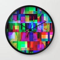 glitch Wall Clocks featuring GLITCH by C O R N E L L