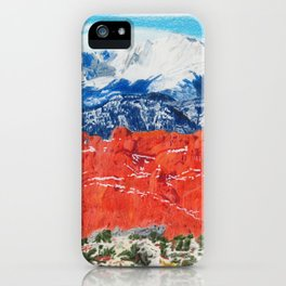 Pikes Peak Behind the Garden of the Gods iPhone Case