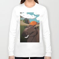 hunting Long Sleeve T-shirts featuring Hunting Season by Pajarito