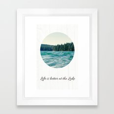 Life on the Lake Framed Art Print