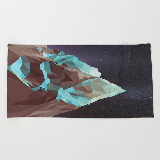 Night Mountains No. 5 Beach Towel
