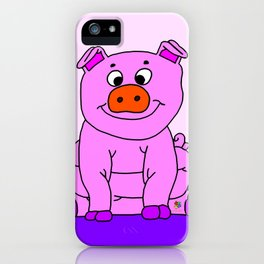 Wide-eyed Piggy iPhone Case