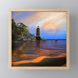 Lighthouse Framed Mini Art Print