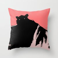 beast Throw Pillows featuring beast by jenapaul
