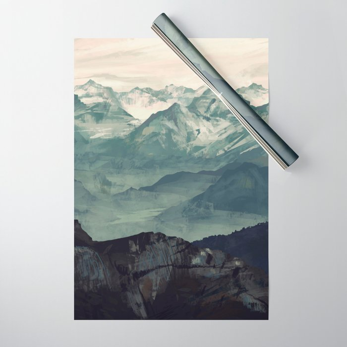 Mountain Fog Wrapping Paper