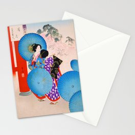 Mizuno Toshikata - Cherryblossom Viewing - Top Quality Image Edition Stationery Cards