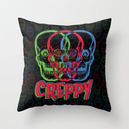 CREPPY Throw Pillow