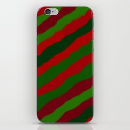 Red and Green Christmas Wrapping Paper iPhone Skin
