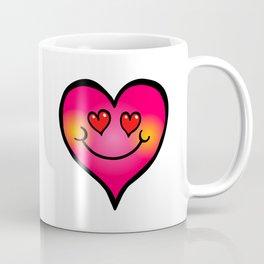 I Love You Pink Doodle Heart Coffee Mug
