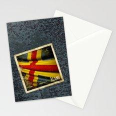 Grunge sticker of Aland Islands flag Stationery Cards