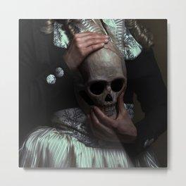 La masque Metal Print