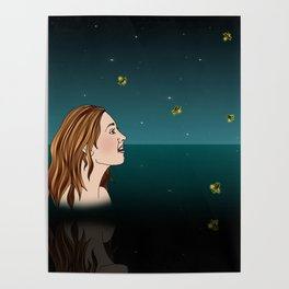 Swimming With Fireflies Poster
