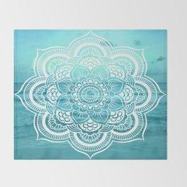 Mandala : Aqua Sunset Waters Throw Blanket