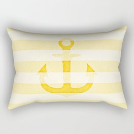 ANCHOR ANCHOR ANCHOR - SUNNY YELLOW Rectangular Pillow