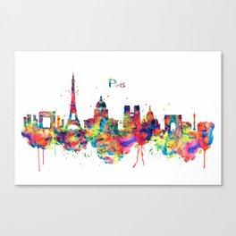 Paris Skyline Silhouette Canvas Print