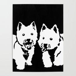 """West Highland Terrier """"The Westie"""" Man's Best Friend Poster"""