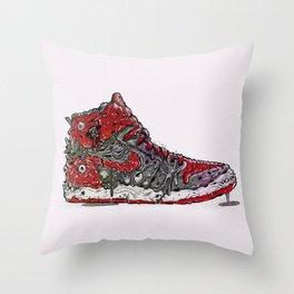 Infected Jordans Throw Pillow