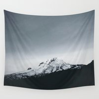 oregon Wall Tapestries featuring Mt. Hood x Oregon by Leah Flores