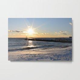 Snowy beaches Metal Print
