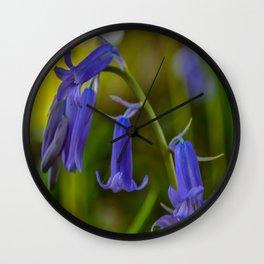Bluebell Flowers Wall Clock