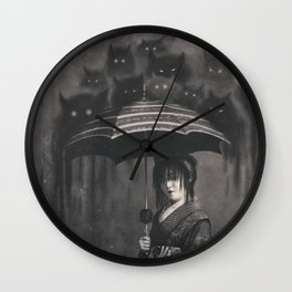 Lady Rain Wall Clock
