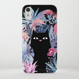Popoki (Pastel Black Velvet) iPhone Case
