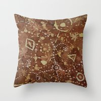 constellations Throw Pillows featuring constellations by rysunki-malunki