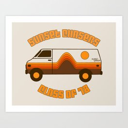 Sunset Chaser Art Print