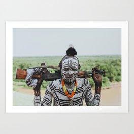 Karo Tribe V Art Print