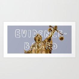 7 Banned Words: Evidence-based Art Print