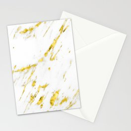 Gold Marble - Yellow Gold Marble Metallic Stationery Cards