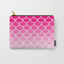 Ombre Fish Scale In Strawberry Carry-All Pouch