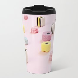 Abstract Colored Chewy Candies Travel Mug