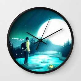 Lost in the Moment Wall Clock