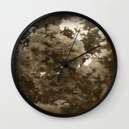 Crape Myrtle Antiqued Wall Clock