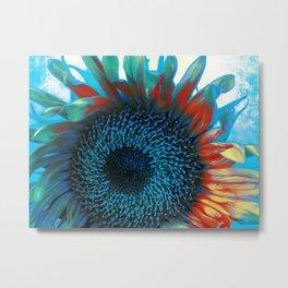 Eye of the Sunflower Metal Print