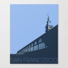 Ferry Building from the dock San Francisco Canvas Print