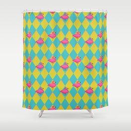 Sugar Daddy Flamingos Shower Curtain